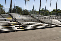 Empty bleachers during daytime Royalty Free Stock Photos
