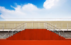 Empty bleachers for an event Royalty Free Stock Image
