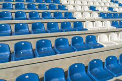 Empty bleachers - Stadium seats Royalty Free Stock Photos
