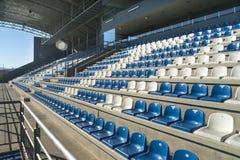 Empty bleachers - Stadium seats Stock Photos