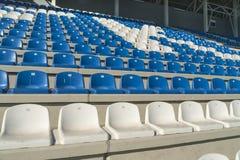 Empty bleachers - Stadium seats Royalty Free Stock Photo