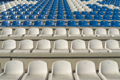 Empty bleachers - Stadium seats Stock Images