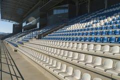 Empty bleachers - Stadium seats Royalty Free Stock Images
