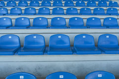 Empty bleachers - Stadium seats Royalty Free Stock Image