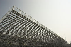 Empty bleachers in toronto. Empty metal bleachers in toronto Royalty Free Stock Image