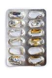 Empty blister pack of pills Stock Image