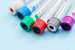 Empty blood tube for blood sample screening test Royalty Free Stock Photos