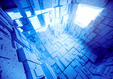 Empty blue abstract  room interior. Royalty Free Stock Photography