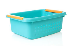 Empty blue basket made of plastic Royalty Free Stock Image