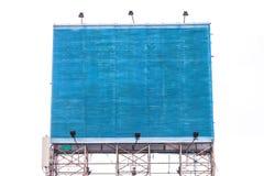 Empty blue billboard Stock Image