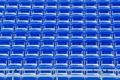 Empty Blue Bleachers Stock Photography