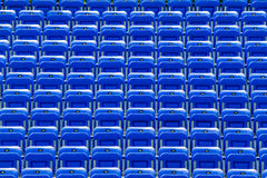 Empty Blue Bleachers Royalty Free Stock Photo