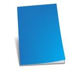 Empty blue brochure Royalty Free Stock Photos