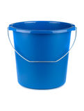 Empty blue bucket Royalty Free Stock Photography