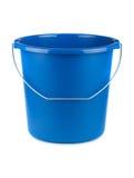 Empty blue bucket Royalty Free Stock Photography