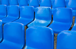 Empty blue chairs Royalty Free Stock Photo