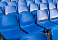 Empty blue chairs Royalty Free Stock Photos
