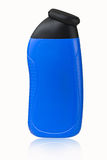 Empty blue deodorant bottle Royalty Free Stock Photo