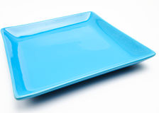 An Empty Blue Dish Royalty Free Stock Image