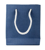 Empty blue gift bag Royalty Free Stock Photo