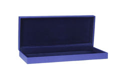 Empty blue gift box Royalty Free Stock Photos