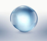 Empty blue glass ball Royalty Free Stock Photos