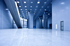 Empty blue hall Royalty Free Stock Image
