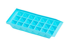 Empty Blue Ice Tray. Stock Photos