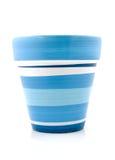Empty blue plant pot Royalty Free Stock Photos
