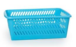 Empty blue plastic basket Stock Images
