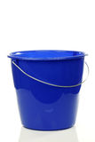Empty blue plastic household bucket Royalty Free Stock Photo