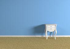 Empty blue room Stock Images