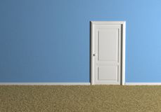 empty blue room Royalty Free Stock Image