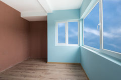 Empty blue room with (includes clipping path) Stock Images