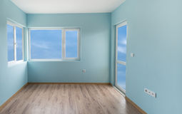 Empty blue room with (includes clipping path) Royalty Free Stock Image