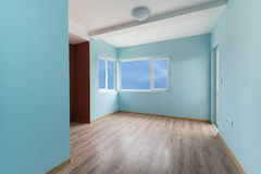 Empty blue room with (includes clipping path) Stock Photos