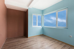 Empty blue room with (includes clipping path) Stock Image