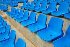 empty blue seat Stock Photo