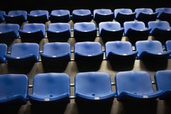 Empty blue seats Royalty Free Stock Image