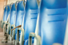 Empty blue seats Stock Images
