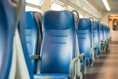 Empty blue seats Royalty Free Stock Photography