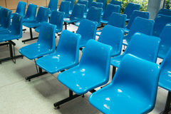 Empty blue seats Stock Image