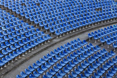 Empty blue seats Royalty Free Stock Images