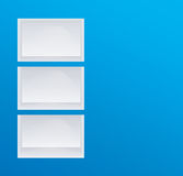 Empty blue shelves Royalty Free Stock Image