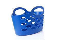 Empty blue shopping bag Stock Photo