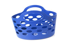 Empty blue shopping bag Stock Images