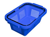 Empty blue shopping basket Royalty Free Stock Photo