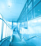 Empty blue staircase Royalty Free Stock Photography