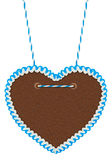Empty blue white  gingerbread heart Royalty Free Stock Images
