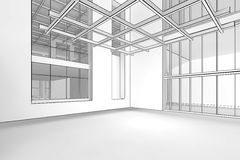 Empty Blueprint Interior Royalty Free Stock Photos